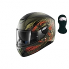 Casque moto Intégral – SHARK Skwal Switch Riders Mat + Cagoule @ Cdiscount